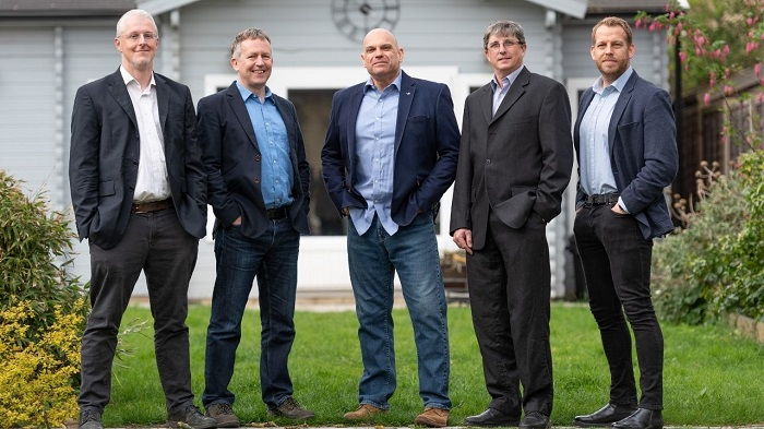 (L-R) The iKVA management team includes Prof Richard Mortier (CTO) Dr Chris Doran (Chairman) Jon Horden (CEO), Ian Firth (CPO) and Leon Challenger (Head of Sales).