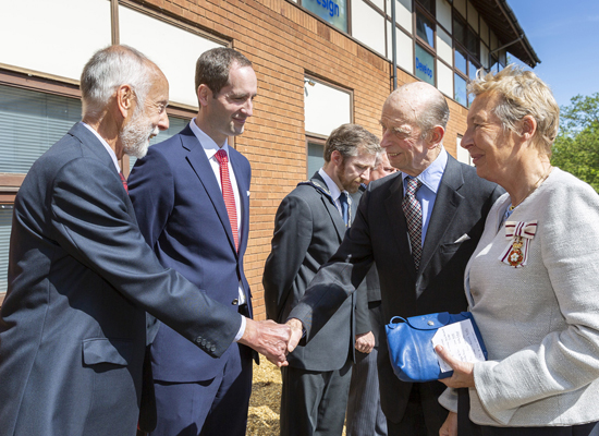 The Duke of Kent visits 42 Technology to mark 20th anniversary