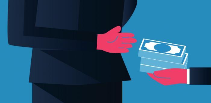 backhanded acceptance of bribery money_illustration