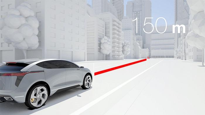 Magna's ICON Digital Radar detects pedestrians up to 150 metres away