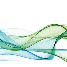 abstract green and blue wavy lines
