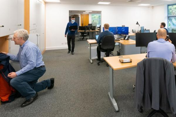 New office layouts at 42 Technology keep staff safe