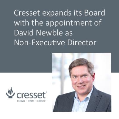 Dr David Newble, Non-Executive Director, Cresset