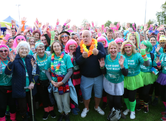 Cliff Parisi with some of the 500-strong Star Shine Night walkers