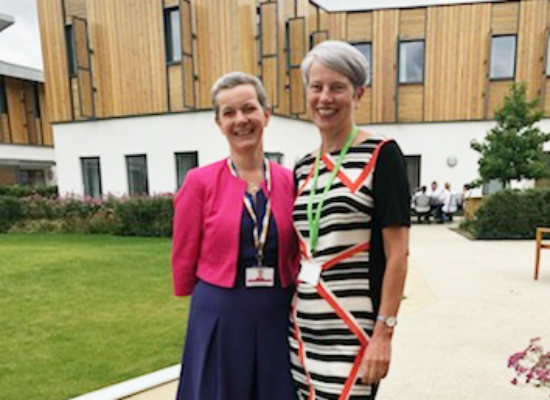 Andrea Sutcliffe visits Arthur Rank Hospice Charity
