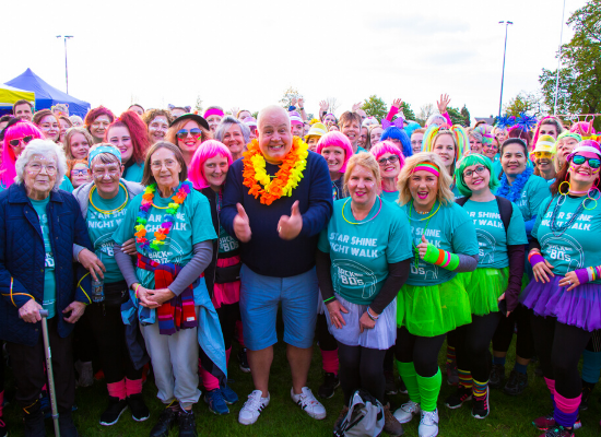 Cliff Parisi is encouraging people to take part in Arthur Rank Hospice Charity's Star Shine Walk, which is now a 'virtual' event.