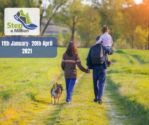 Families, friends, groups of colleagues and organisations are being invited to take part in Arthur Rank Hospice Charity's Step a Million, which has been designed with COVID considerations in mind.
