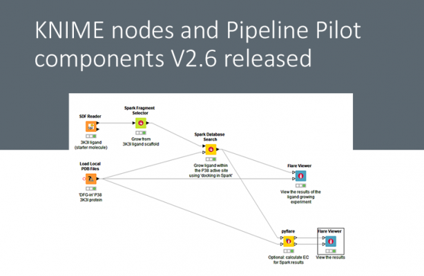 KNIME nodes and Pipeline Pilot components V2.6 released