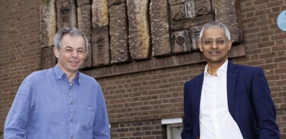 Professors Klenerman (L) and Balasubramanian, courtesy Department of Chemistry Photography