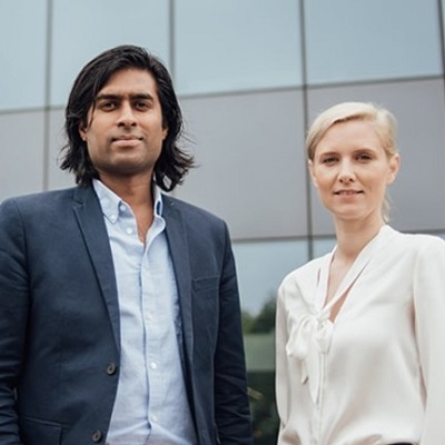 Cofounders Dr Suman Saha and  Dr Stephanie Eltz