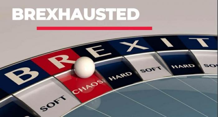 roulette wheel with BREXIT written on it