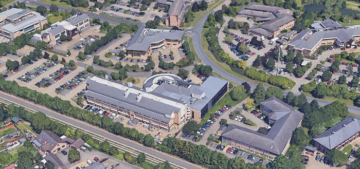 Cambridge Science Park aerial view
