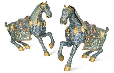 Cloisonne Horses
