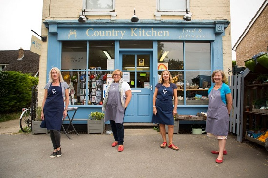 Country Kitchen (aka CK), is owned and managed by a collective - a group of local residents from Haslingfield, pictured outside the shop
