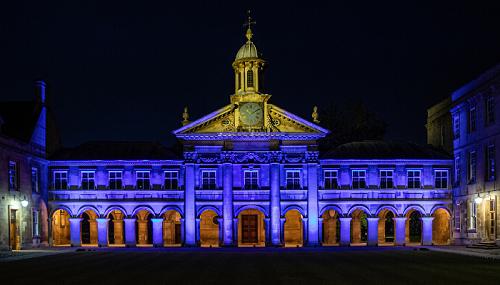 Emmanuel College in blue