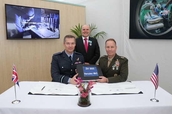 (L to R) Air Vice Marshal Cooper, Alistair McPhee and Major General Masiello