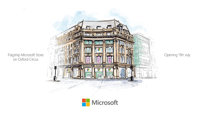 artists impression_Flagship Microsoft store opens in London on July 11th