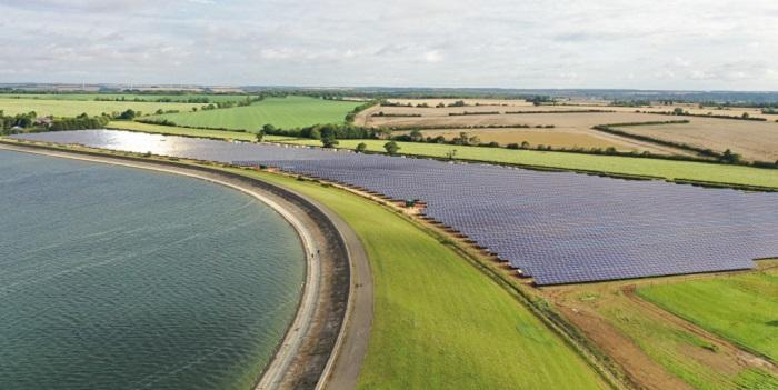 Solar farm next to Grafham Water_Source: Anglian Water