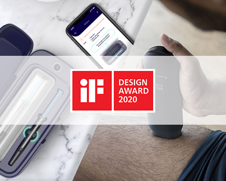 Cambridge Consultants wins two prestigious iF DESIGN AWARDS for Aalto, an injection device for rheumatoid arthritis patients, and Alma, a smart cooling case for injectable fertility drugs.