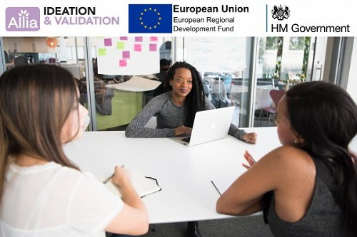 Younr women sitting round a table_deation and Validation image with logos