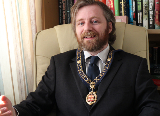 Jonathan Pallant photographed at home is new Mayor of St Ives