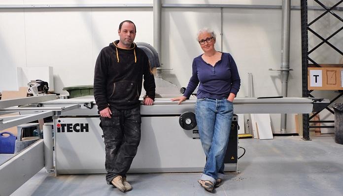 Ian Taft  and Kate Polak in their workshop