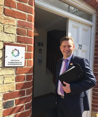Dr Nik Johnson on the threshold of the Mayor's office