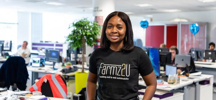 Aisha Raheem, founder of Farmz2U