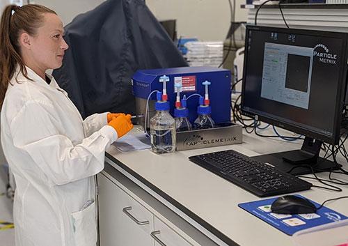 ZetaView Nanoparticle Tracking Analyser at Quadram Institute