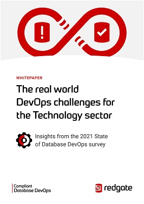 The real world DevOps challenges for the Technology sector_Redgate white paper cover