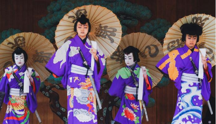 Kimono clad dancers- Instagram Reel
