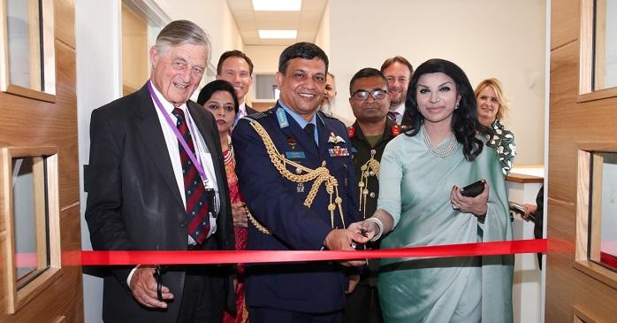 L to R Sir Michael Marshall, Air Chief Marshal Masihuzzaman Serniabat and Her Excellency Ms Saida Muna Tasneem