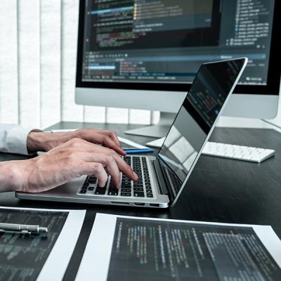 hands on laptop_software coder