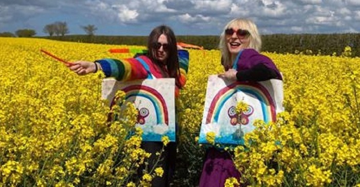 Renowned artist - EACH has teamed up with Lucy Loveheart (right) to host an art competition for primary school children, aged four to 11