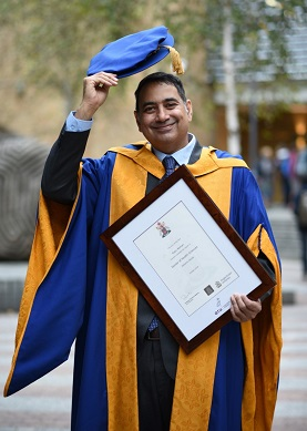 Professor Rajiv Raman received the award of Honorary Doctor of Health Sciences from Anglia Ruskin University