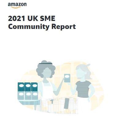 2021 Amazon UK SME Impact Report cover graphic
