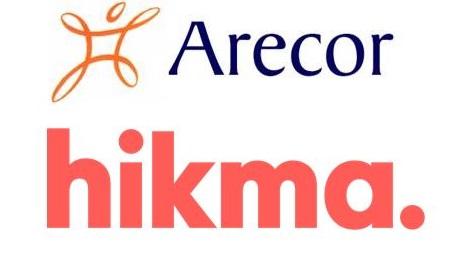 Arecor and Hikma logos