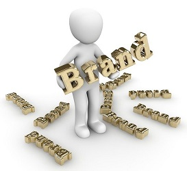 cartoon type character with the word 'Brand' in his hands. Image by Peggy und Marco Lachmann-Anke from Pixabay