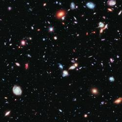 The Hubble eXtreme Deep Field  Credit: NASA, ESA, G. Illingworth, D. Magee, and P. Oesch, R. Bouwens, and the HUDF09 Team