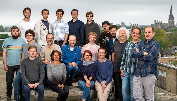 The Project Silica team at Microsoft Research Cambridge. Photo by Jonathan Banks for Microsoft.