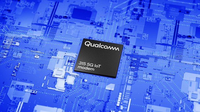 PCB on blue background_The Qualcomm® 315 5G IoT Modem-RF System is a comprehensive modem-to-antenna solution