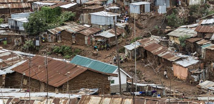 Kibera slum, Nairobi, Kenya  Credit: Ninara