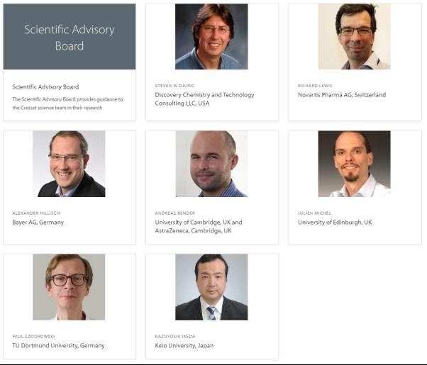 Cresset Scientific Advisory Board members