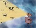 Blighter radar detecting drones_ illustration