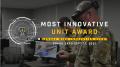 USAF 'most innovative unit award' banner