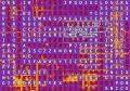 word maze on a PCB abstract background