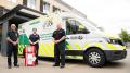 PaNDR ambulance and crew