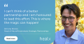 Simone Manso and Healx banner