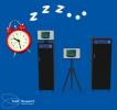 sleeping X ray machine illustration