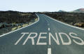 Roadway with Trends written on it